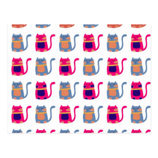 Cute Fat Kitty Cats Pink Melon Blue Unique Gifts Postcard