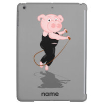 Cute Fat Pig Skipping Case For iPad Air