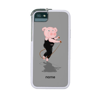 Cute Fat Pig Skipping Case For iPhone SE/5/5s