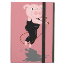 Cute Fat Pig Skipping iPad Air Case