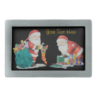 Cute father christmas toys gifts seasonal design belt buckle