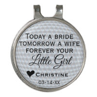 Cute Father of the Bride Forever Your Little Girl Golf Hat Clip