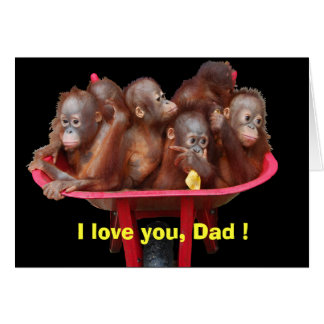 Cute Father's Day Monkey Business Card