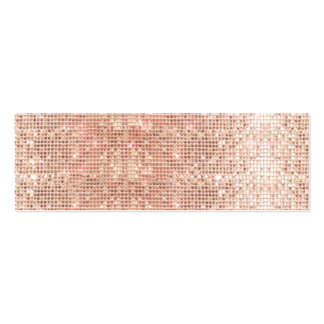 Cute Faux Copper Sequins Beauty and Fashion Double-Sided Mini Business Cards (Pack Of 20)