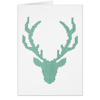 Cute Faux Embroidered Deer Stationery Note Card