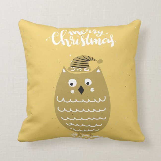 Cute Faux Gold Christmas Owl
