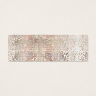 Cute Faux Silver Sequins Pink Insert