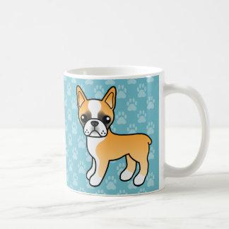Cute Fawn Cartoon Boston Terrier Coffee Mug
