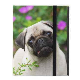Cute Fawn-Color Pug Puppy Dog  protective Hardcase iPad Cover