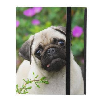 Cute Fawn-Color Pug Puppy Dog  protective Hardcase iPad Folio Case