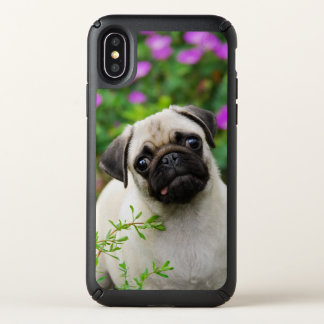 Cute Fawn Colored Pug Puppy Dog Face Pet Photo --- Speck iPhone X Case