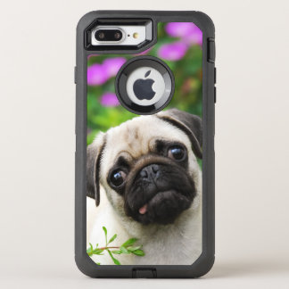 Cute Fawn Colored Pug Puppy Dog Photo - Protect OtterBox Defender iPhone 8 Plus/7 Plus Case