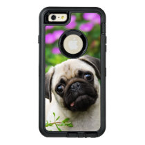 Cute Fawn Colored Pug Puppy Dog Photo - Protect OtterBox Defender iPhone Case