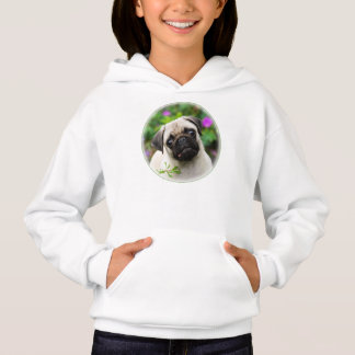Cute Fawn Colored Pug Puppy Doggie, Hoodie