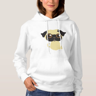 Cute Fawn Pug Hoodie