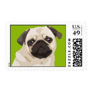 Cute Fawn Pug Postage