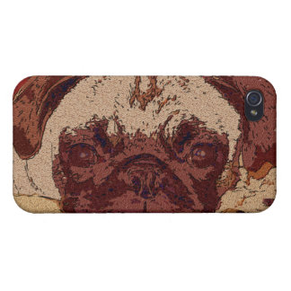 Cute Fawn Pug Puppy iPhone 4/4S Covers