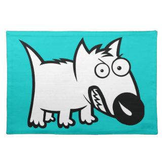 Cute feisty cartoon dog place mats