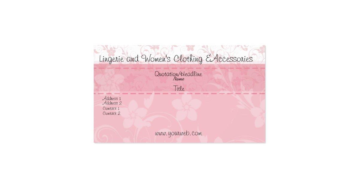 Cute feminine handmade fashion business card zazzle for Feminine business cards