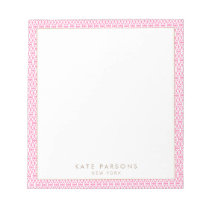Cute Feminine Pink Lattice Pattern Notepad