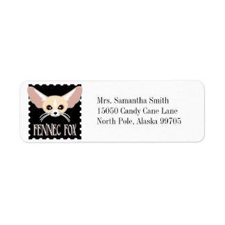 Cute Fennec Fox Cartoon Return Address Label
