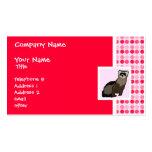 Cute Ferret Business Card Templates