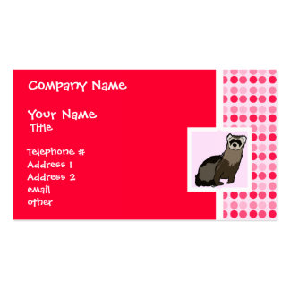 Cute Ferret Double-Sided Standard Business Cards (Pack Of 100)
