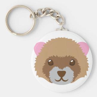 cute ferret face keychain
