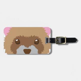 cute ferret face luggage tag