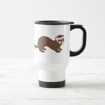 Cute Ferret Graphic Travel Mug