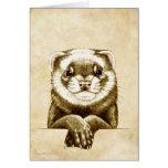 Cute Ferret Greeting Card