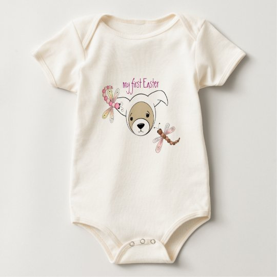 Cute Ferret in Easter Bunny Costume Baby Bodysuit