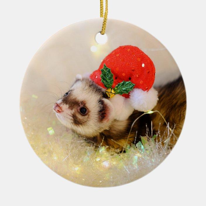 Ceramic Christmas Ornament Ferret