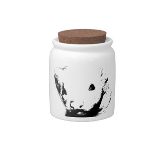 Cute Ferret Picture Candy Dish