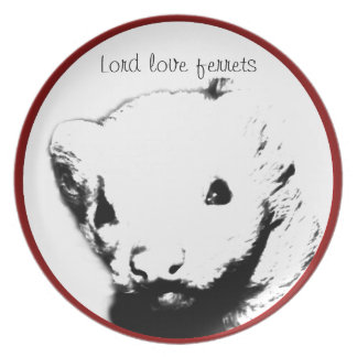 Cute Ferret Picture Dinner Plate