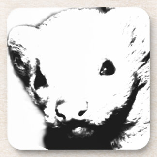 Cute Ferret Picture Drink Coaster