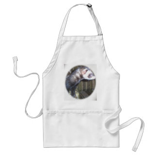 Cute Ferret Pictures and Sayings Aprons