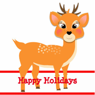 Cute Festive Baby Reindeer Cutout