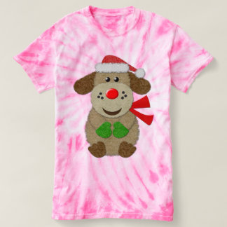 Cute Festive Faux Felt Dog T-shirt