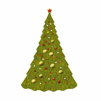 Cute Festive Holiday Christmas Tree Pretty Xmas Cutout