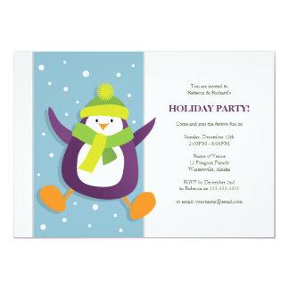 Cute Festive Penguin | Holiday Party Invitation