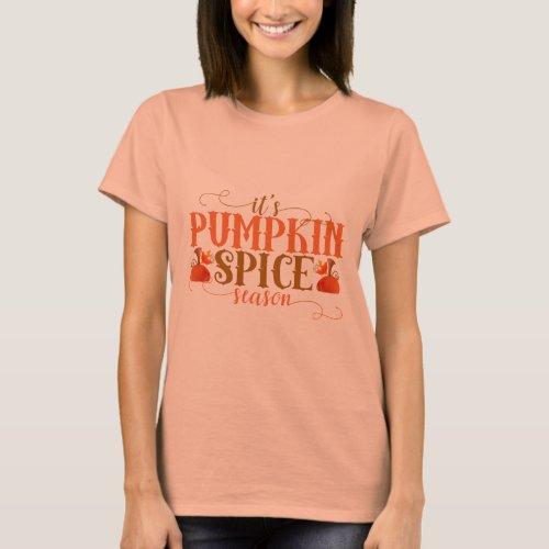 Cute Festive Pumpkin Spice Season Autumn T_Shirt