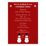 Cute Festive Snowmen Christmas Party Invitations