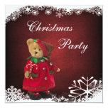 Cute Festive Teddy Bear Christmas Party Card