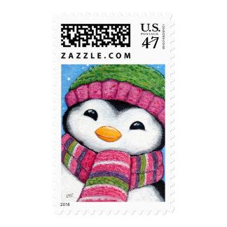 Cute Festive Xmas Penguin - Medium Postage