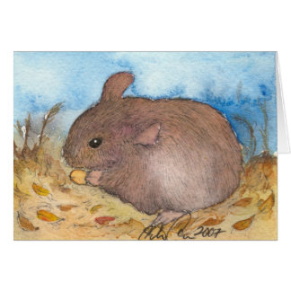 Cute field mouse note card