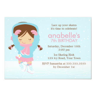 Cute Figure Skater Birthday Card