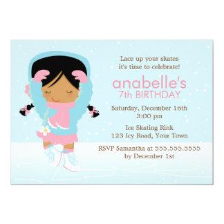 Cute Figure Skater Birthday Card