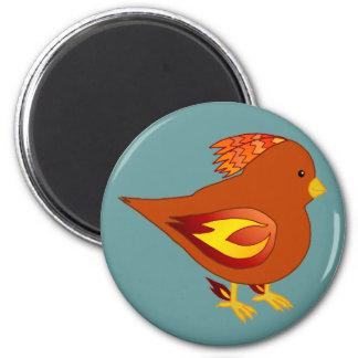 Cute fire bird fridge magnets