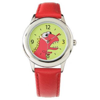 Cute Fire Breath Cartoon T-Rex Dinosaur Wrist Watch